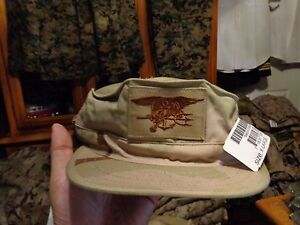 8 POINT COVER HAT DESERT SEKRI Navy Seal SWCC EOD, 2nd Class SIZE SMALL NWT