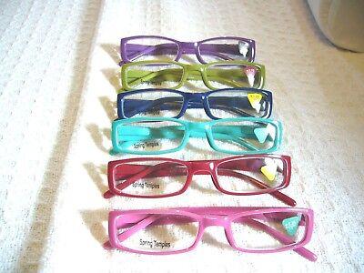 LADIES KIDS READING GLASSES LITTLE READERS (1.25 - 3.00) R170 SPRING HINGE   (Kids Reading Glasses)
