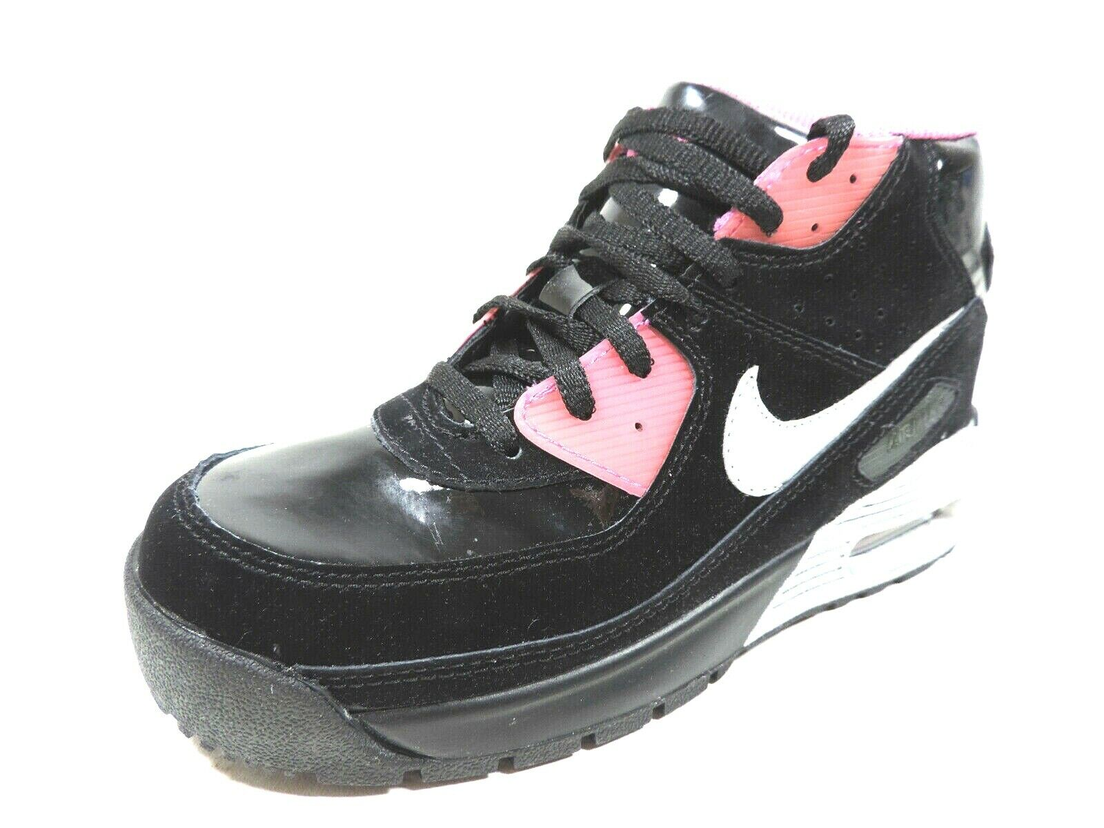 Details about Nike Air Max 90 Boot GS 317298 001 Girls Shoes Sneakers Black Leather Vintage