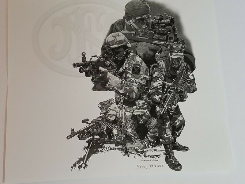 Dick Kramer Print Law Enforcement Military HEAVY HITTERS for FN Herstal 1999