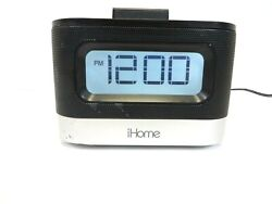 iHome IPL8BN Stereo FM Clock Radio With Lightning Dock for iPhone used