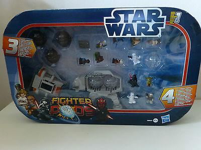 Star Wars - Fighter Pods 38631 Hasbro Serie 1 mit AT AT / Jabba / Yoda / Darth V, gebraucht gebraucht kaufen  Iserlohn