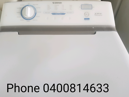 7.5kg Simpson Washing Machine $275