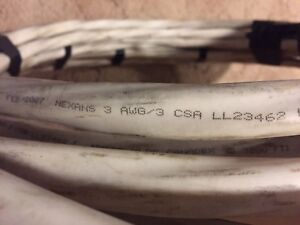 Copper wire electrical cable NMD90 3/3 50 feet