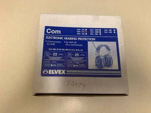 Elvex Electronic Com 211 Hearing Protection NOS