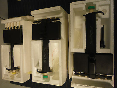 3 Finnpipette 5-channel W Tip Ejector New 5-50ul 2x 40-200ul W Tips Extras