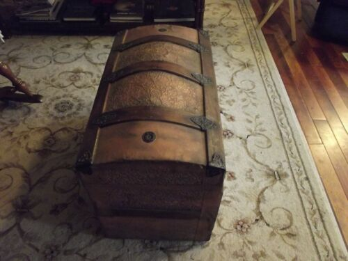 Steamer trunk, antique, late 1800