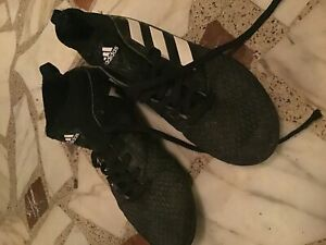 Black adidas indoor soccer shoes