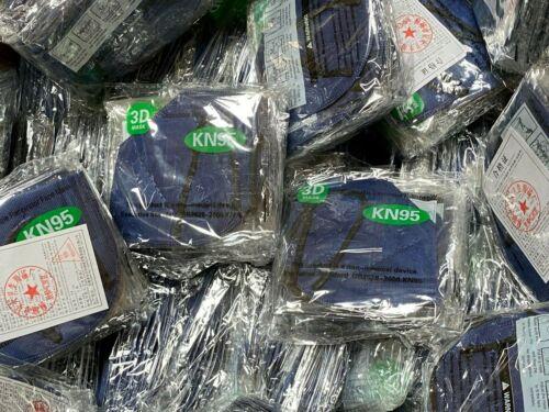50/100pcs Dark Blue Kn95 Face Mask 5 Layer Bfe 95% Disposable Respirator