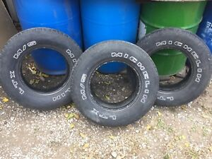 Three 225x75x15 M&S Michelin tires