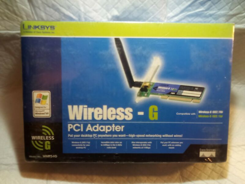 Linksys Wireless-G PCI Adapter Model: WMP54G Computer Wireless Router NEW SEALED
