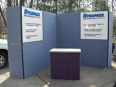Nimlok Trade Show Exhibit 8 Feet Tall By 16 Feet W Extra Reversible Panels