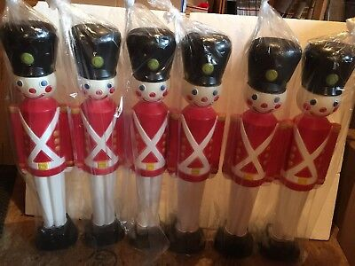Christmas Toy Soldier Light Up Blow Mold Decoration General Foam  Lot Of - Blow Up Christmas