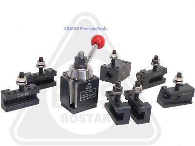 Bostar Axa 250-111 Wedge Toolpost Set For Lathe 6 - 12 Plus 2 Extra Tool Holder
