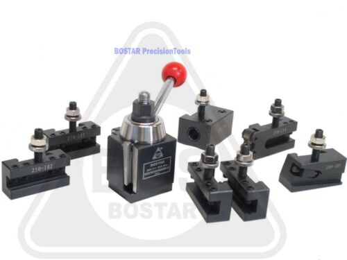"BOSTAR AXA 250-111 Wedge ToolPost Set For Lathe 6 - 12"" Plus 2 Extra Tool Holder"