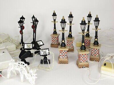 Lot Street Spot Lights for Winter Christmas Village or Train Sets Includes Deer