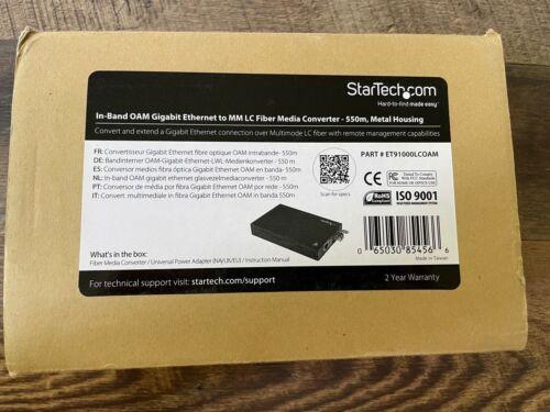 StarTech.com ET91000LCOAM, OAM Gigabit Ethernet to MM LC Fiber Media Converter