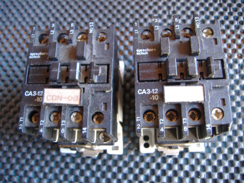 Sprecher + Schuh Contactor CA3-12-10, 120vac coil Lot of 2