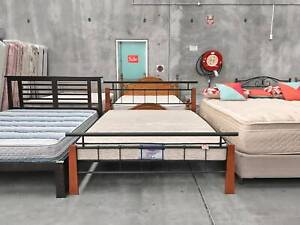 TODAY DELIVERY MODERN METAL Queen bed frame (mattress available)