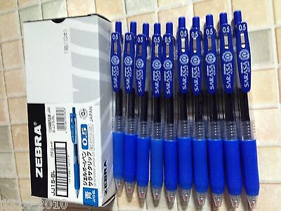 Zebra Sarasa retractable gel ink ballpen 0.5mm x10 pcs blue ink Best