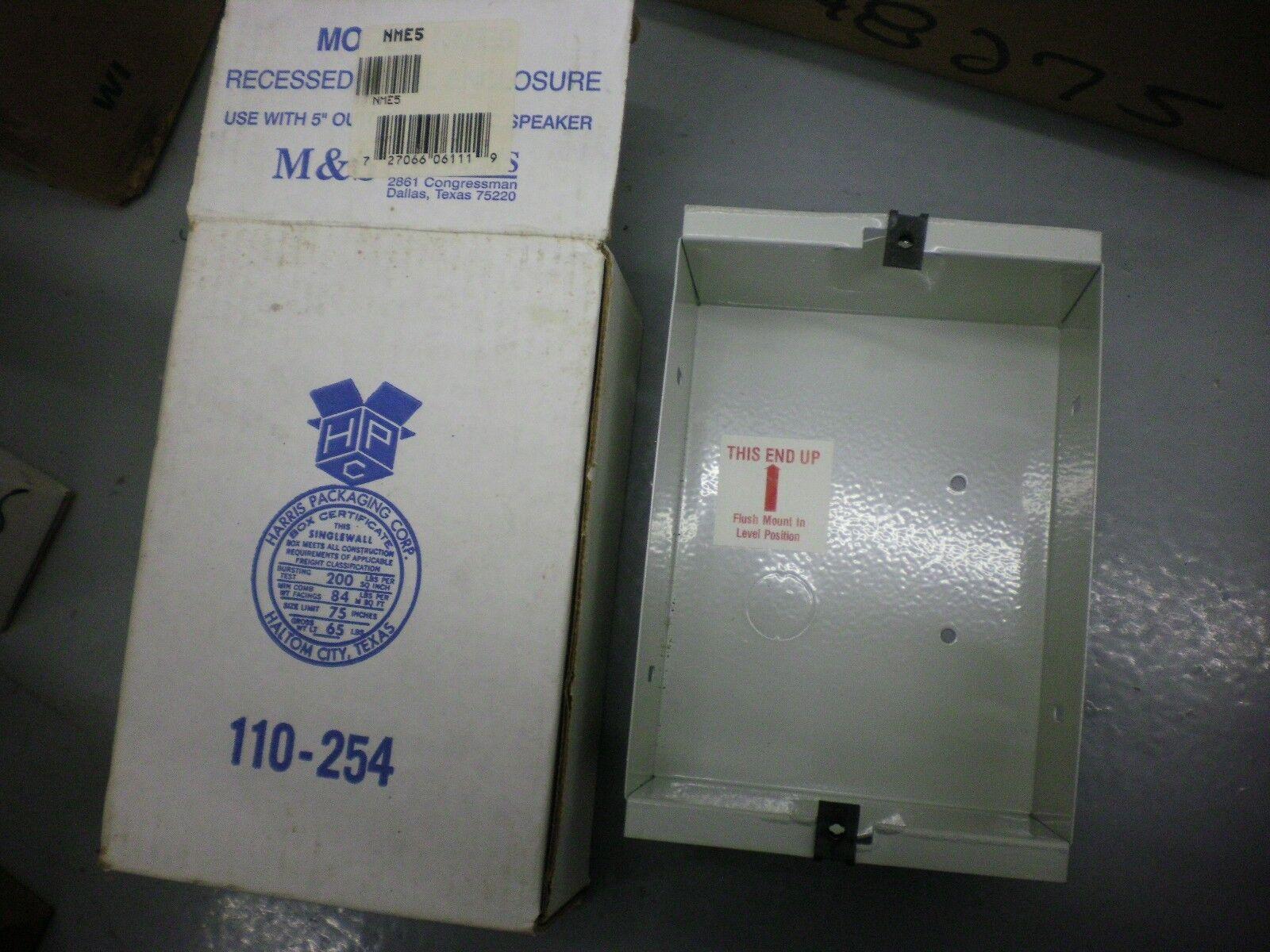 "M & S Systems Intercom System NME5 Outdoor Speaker Enclosure for 5"" Speaker NIB"