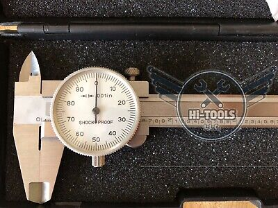 4 Precision Stainless Steel Dial Caliper--new
