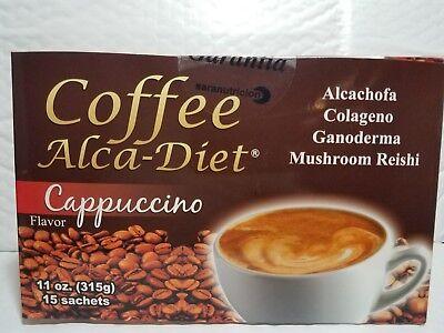 COFFEE ALCA DIET CAPPUCCINO FLAVOR WITH ARTICHOKE AND COLLAGEN  01/2020 NEW