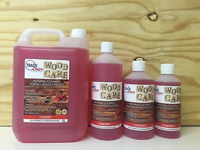 Wood Care - Wood & Laminate Floor Natural Cleaner Protector - 500ml - Cherry