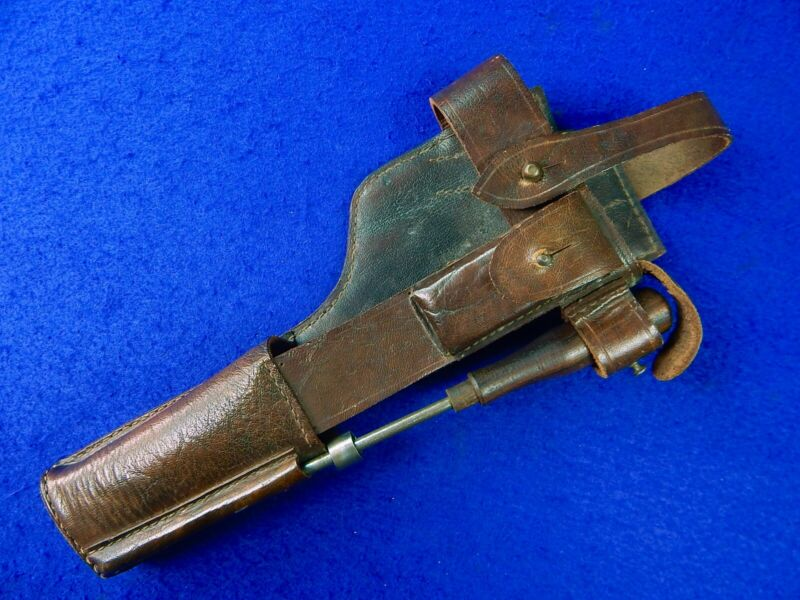Vintage Replica Germany German WW1 Mauser C96 Broomhandle Pistol Holster w/ Tool