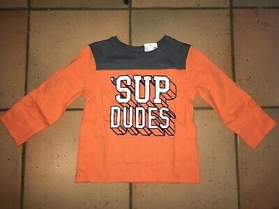 "THE CHILDRENS PLACE ""SUP DEDES"" BOYS TOP (Orange) 12-18 months"