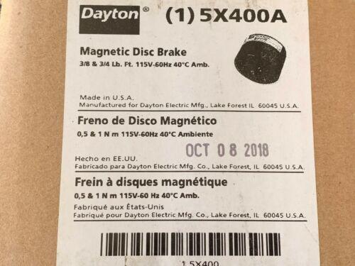 Dayton Magnetic Disc Brake 115VAC 60Hz 3/8 ft-lb P/N 5X400A