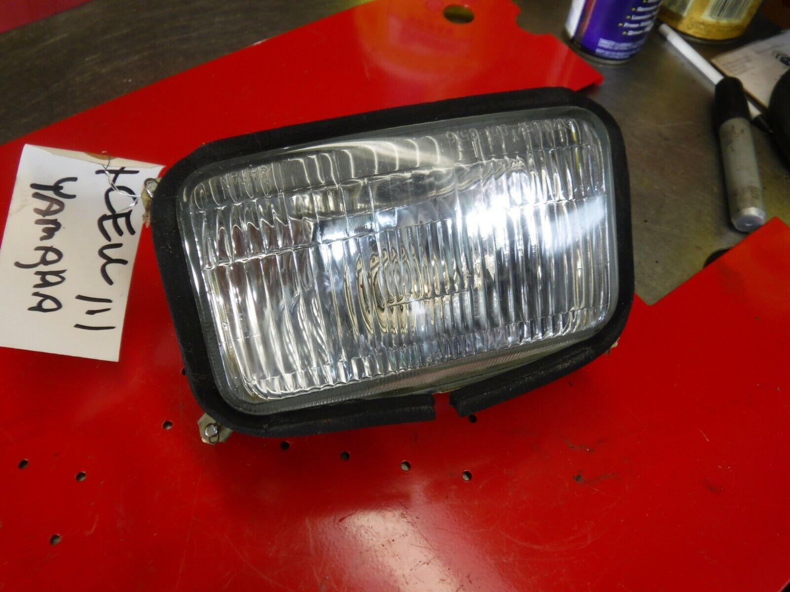 1987 82J YAMAHA EXCELL III snowmobile parts: HEADLIGHT ASSEMBLY