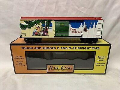 ✅MTH RAILKING 2012 CHRISTMAS BOX CAR 30-74692! FOR O GAUGE TRAIN SET HOLIDAY