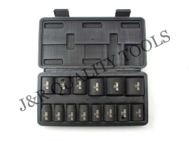 """1/2"""" DR DRIVE METRIC BLACK IMPACT SOCKET WRENCH TOOL SET FOR AIR IMPACT WRENCH"""