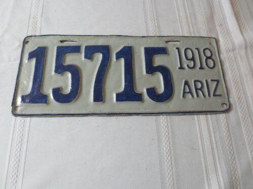 1918 ARIZONA RESTORED LICENSE PLATE 15715