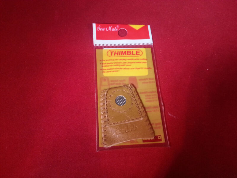 Sew Mate Coin Leather Thimble Quilting Sewing Notions Large