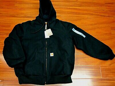 Carhartt J140 Quilted Flannel Lined Duck Active Jacket Black Made in USA