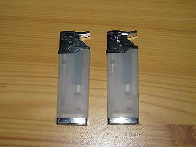 2 Stück Mini Feuerzeuge UNILITE transparent / Weiß