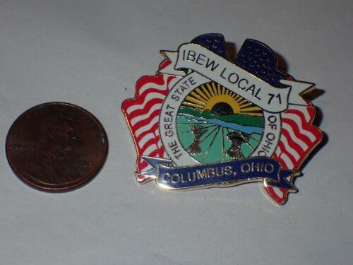 IBEW Collectible Lapel Pin Local 71 Columbus OH