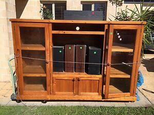 Timber TV Unit Mudjimba Maroochydore Area Preview