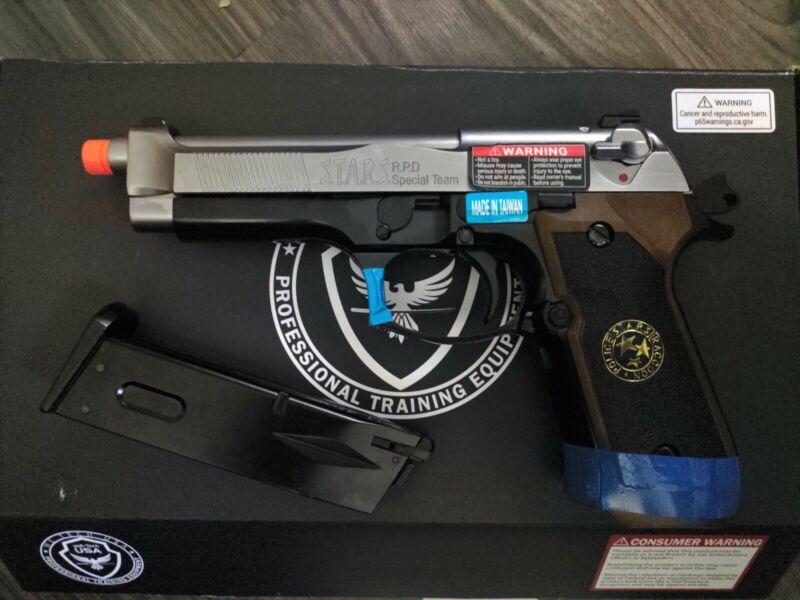 WE Samurai Edge Gas Airsoft Pistol Silver/Black (Semi-Auto/Full-Auto) Version