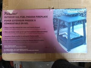 Paramount outdoor gel fireplace