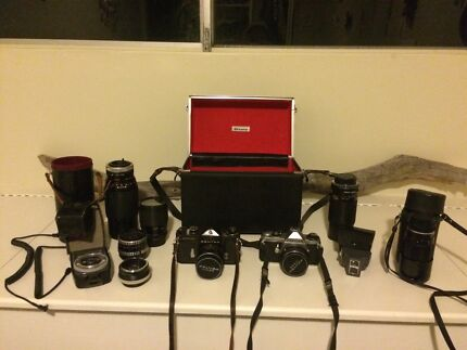 2 x Asahi Pantax SLR + Lenses Bondi Beach Eastern Suburbs Preview