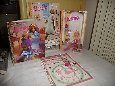#98 vtg Lot 4 BARBIE BOOKS COLORING / STORY / etc Golden / Hope 1990`s BOOKS