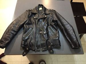 Vintage leather rocker jacket