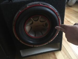 Competition subwoofer and accessories