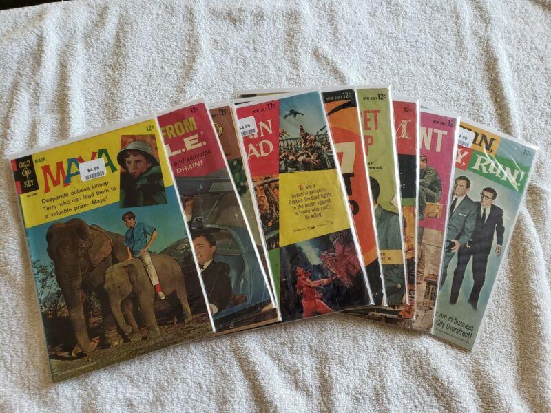 Lot Of 10 Silver Age Gold Key TV/Movie Comics; Mister Ed, Man From U.N.C.L.E.