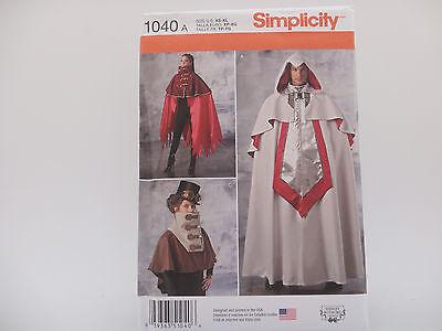 Simplicity 1040 Uni Steampunk Cloak/Cape Fantasy Cosplay Costume Pattern XS-XL