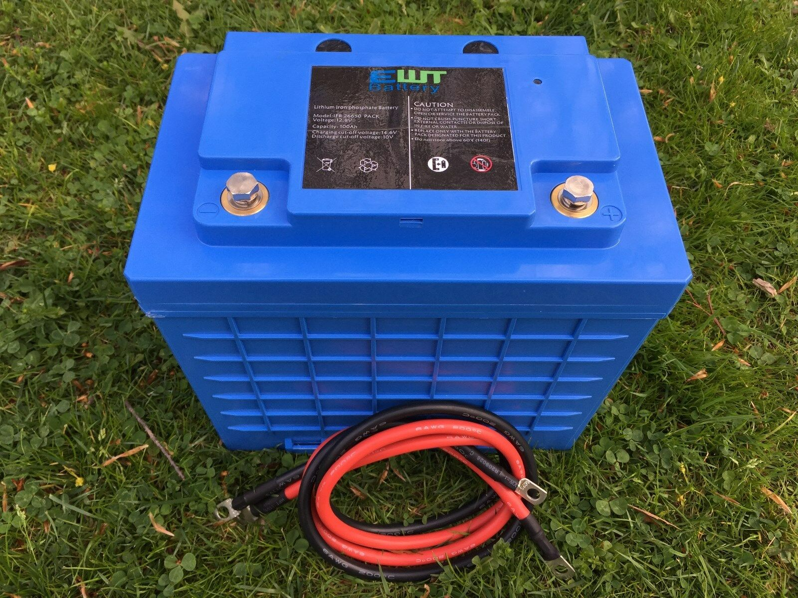 Lifepo4 12v 100ah Lithium Phosphate Deep Cycle Battery For