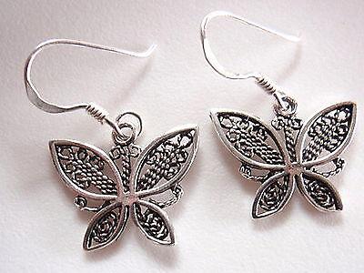 Small Butterfly Earrings - Small Butterfly Earrings 925 Sterling Silver Dangle Corona Sun Jewelry
